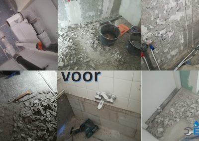 Renovatie badkamer voor en na
