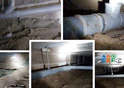 Rioolsysteem bestaande bouw ondergronds